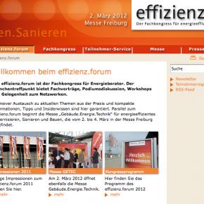 effizienz.forum 2012 in Freiburg